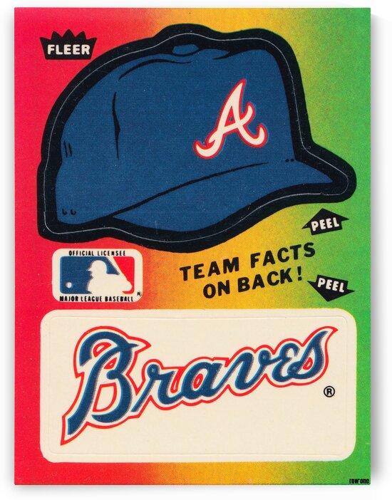 1983 Atlanta Braves Fleer Decal by Row One Brand