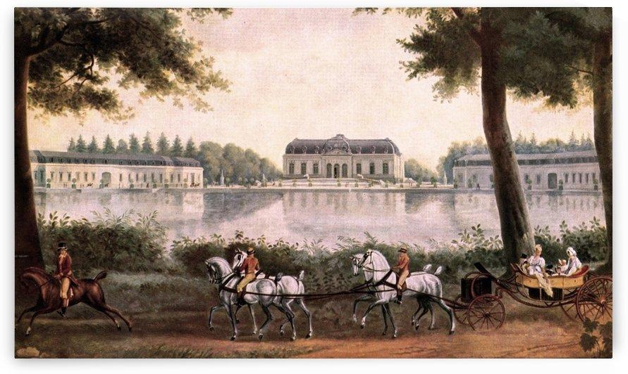 Wandgemalde von Schloss Benrath, Maler by Antoine Charles Horace Vernet