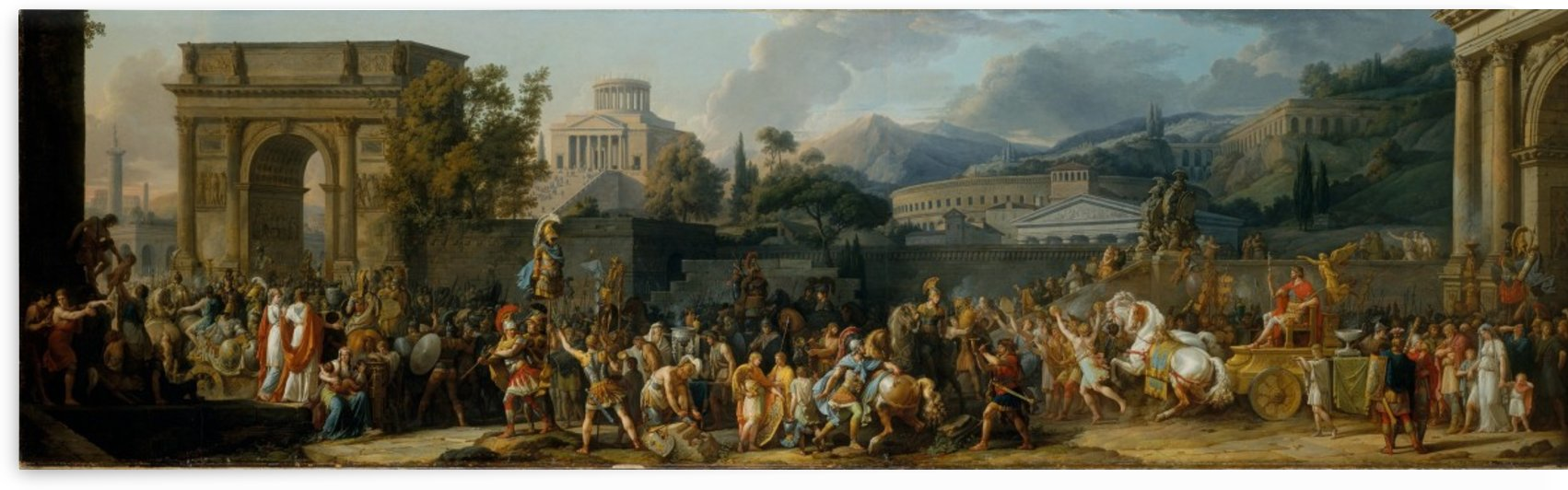 The Triumph of Aemilius Paulus by Antoine Charles Horace Vernet