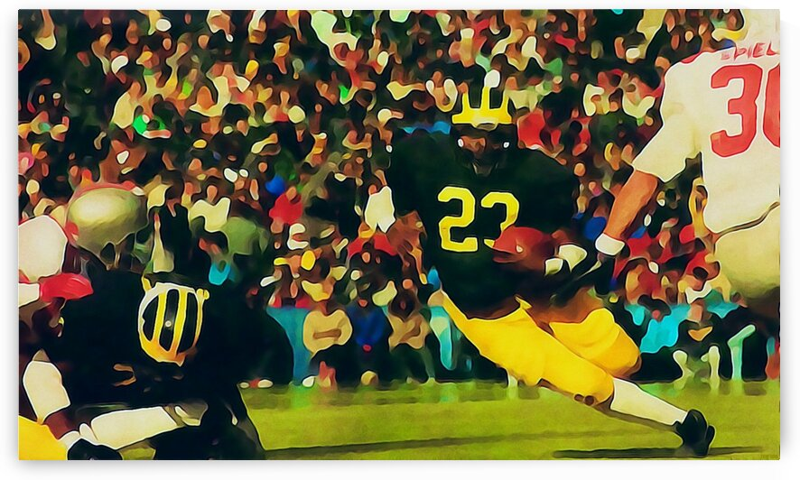 1987 Michigan Wolverines Football Art by Row One Brand