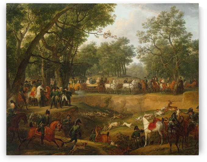Napoleon on a Hunt in the Forest of Compiegne by Antoine Charles Horace Vernet