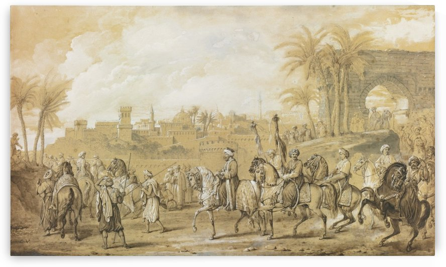 Mounted arabs by Antoine Charles Horace Vernet