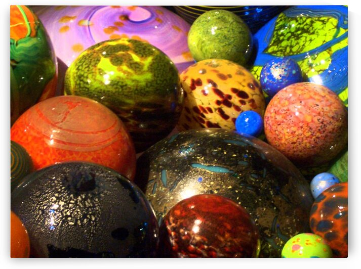 Glass Baubles  by Angel