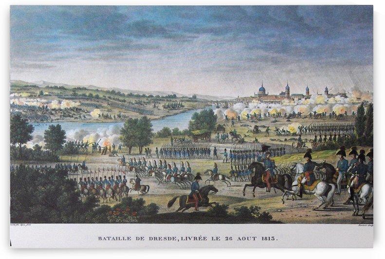Napoleon in Dresden by Antoine Charles Horace Vernet