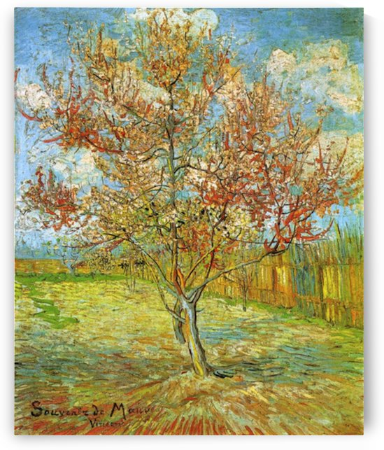 Pink Peach Tree in Blossom Reminiscence of Mauve by Van Gogh by Van Gogh