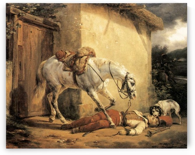 The Wounded Trumpeter 1819 by Antoine Charles Horace Vernet
