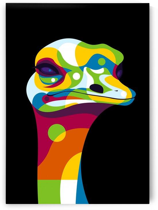 Ostrich Head Pop Art by wpaprint