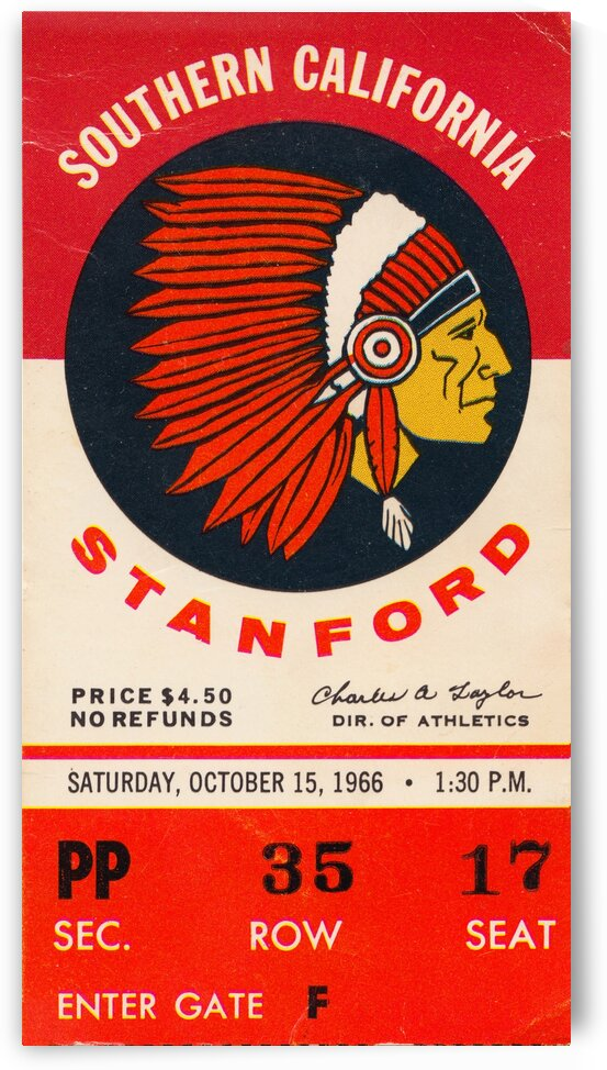 1966 USC vs. Stanford by Row One Brand