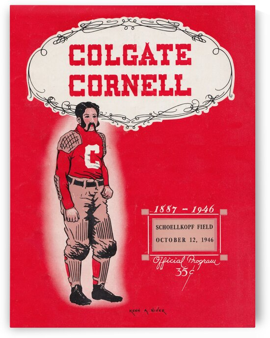1946 Colgate vs. Cornell by Row One Brand