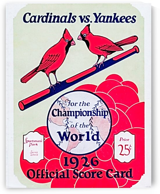 1926 World Series Score Card by Row One Brand