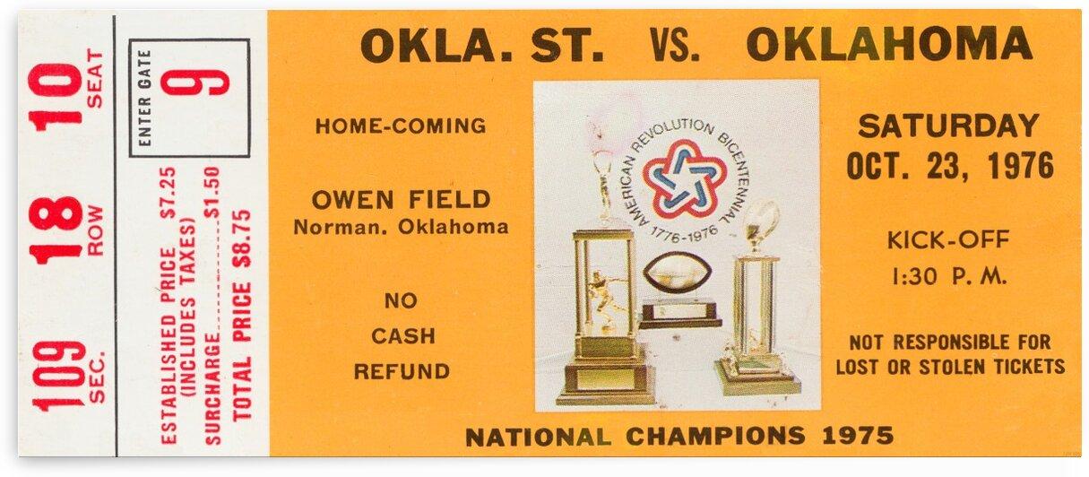 1976 Oklahoma State vs. Oklahoma by Row One Brand