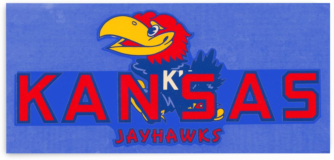 1950s Kansas Jayhawk Art by Row One Brand