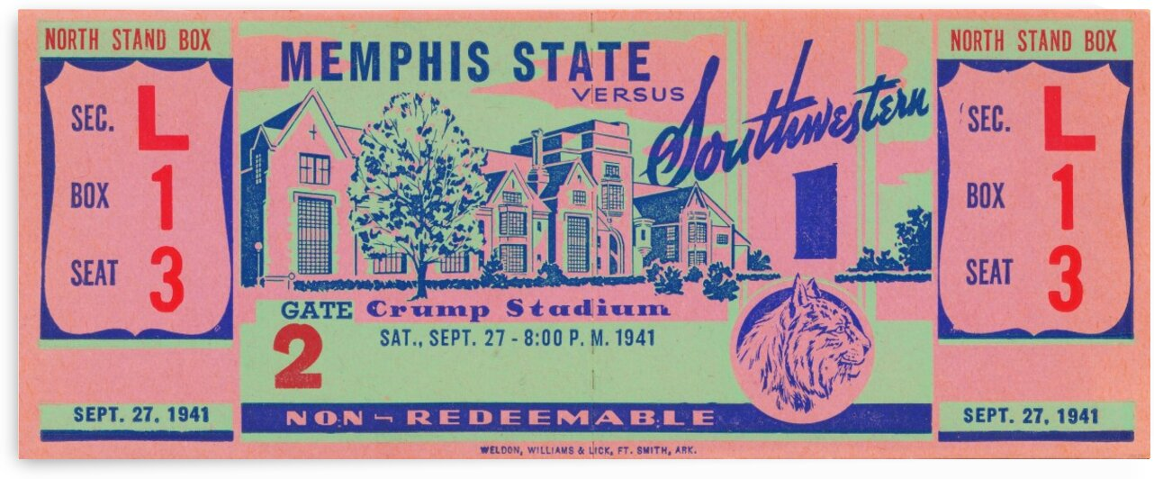 1941 Memphis State by Row One Brand