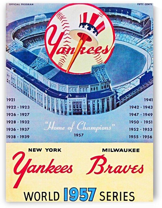 1957 World Series Program by Row One Brand