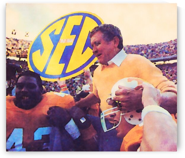 Tennessee Coach Johnny Majors  by Row One Brand