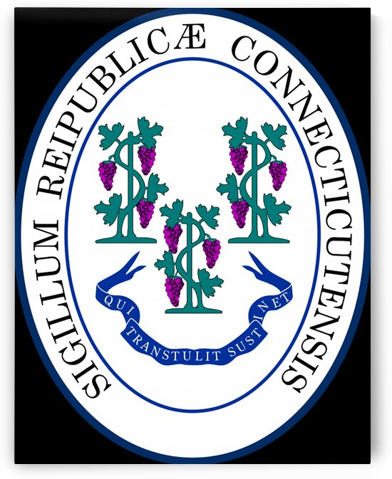 Connecticut State Great Seal by Fun With Flags