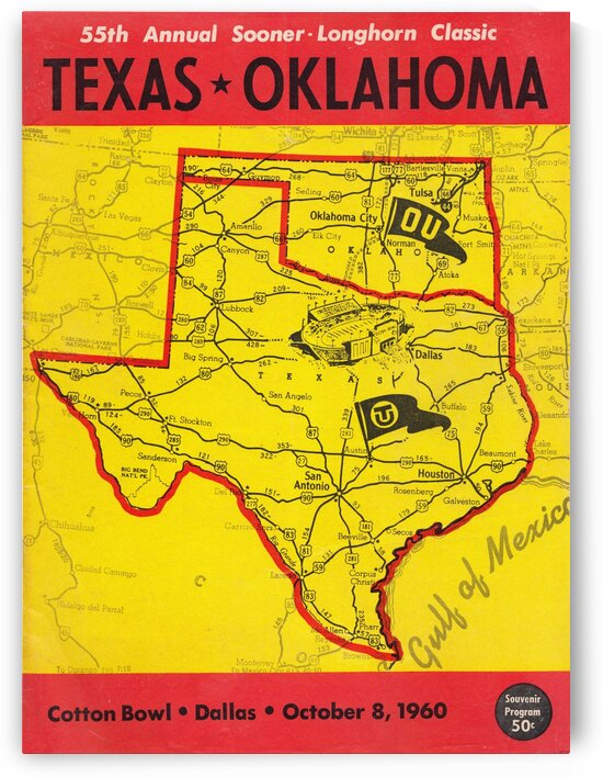 1960 Texas vs. Oklahoma by Row One Brand