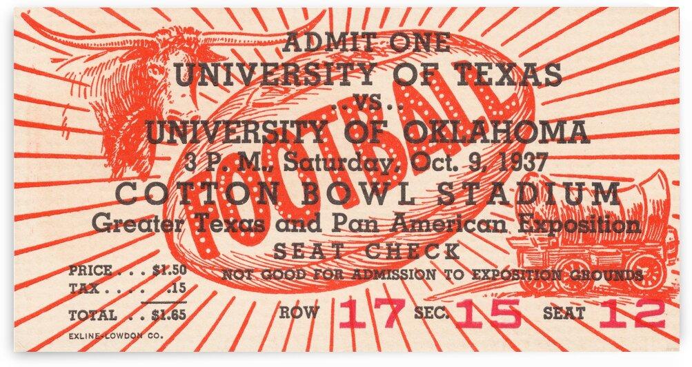 1937 Oklahoma vs. Texas by Row One Brand
