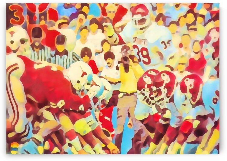 1982 Oklahoma vs. Texas Watercolor by Row One Brand