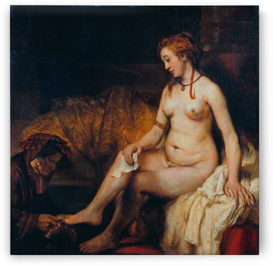 Rembrandt van Rijn: Bathsheba at Her Bath - HD 300ppi by Famous Paintings