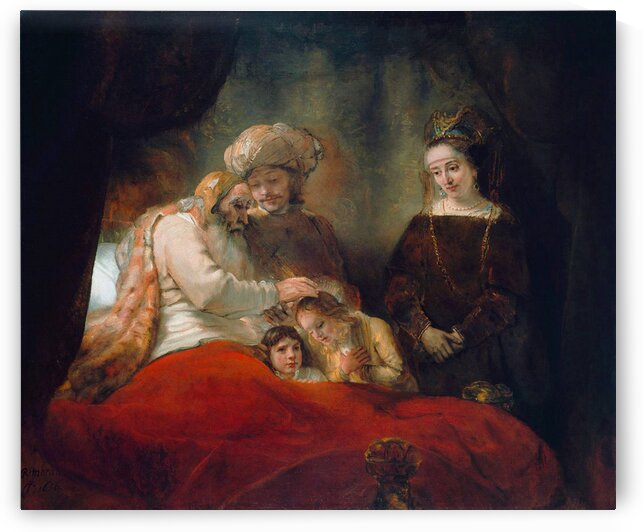 Rembrandt van Rijn: Jacob Blessing the Children of Joseph - HD300ppi by Stock Photography