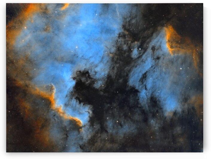 North American and Pelican Nebula by Bradley Craig