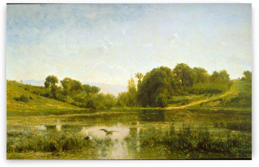 Pool at Gylieu by Daubigny by Daubigny