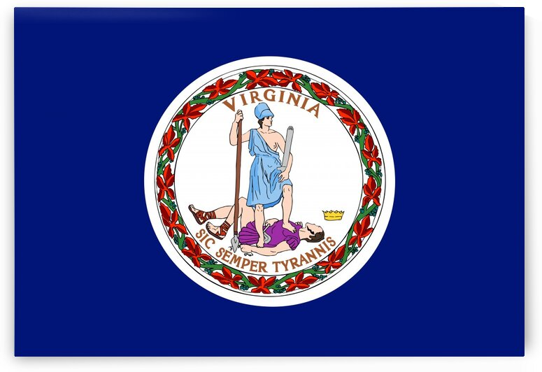 Virginia State Flag by Fun With Flags