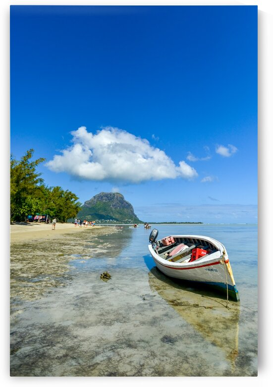 Caribbean small boat and cloud  by Pete bird - StrangeWorkz
