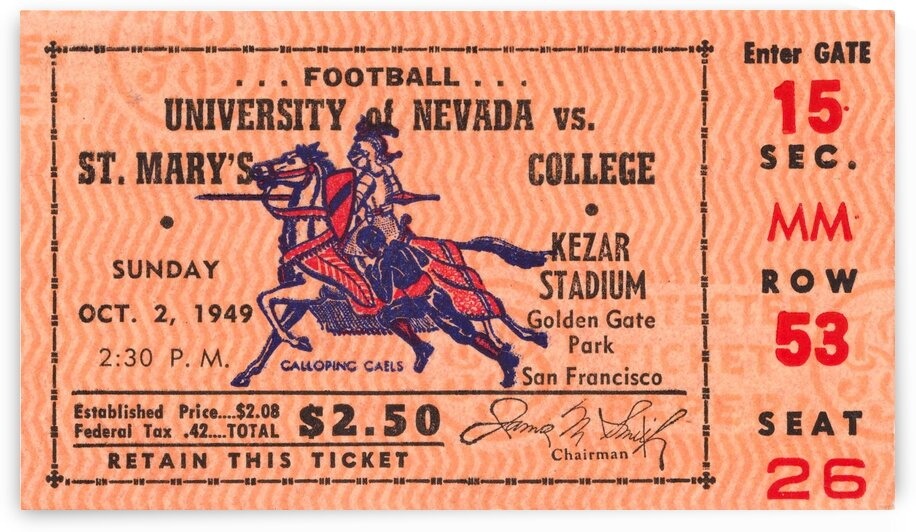 1949 St. Marys vs. Nevada  by Row One Brand