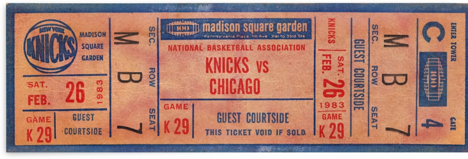 1983 New York Knicks vs. Bulls by Row One Brand