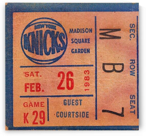 1983 New York Knicks Ticket Stub Print by Row One Brand
