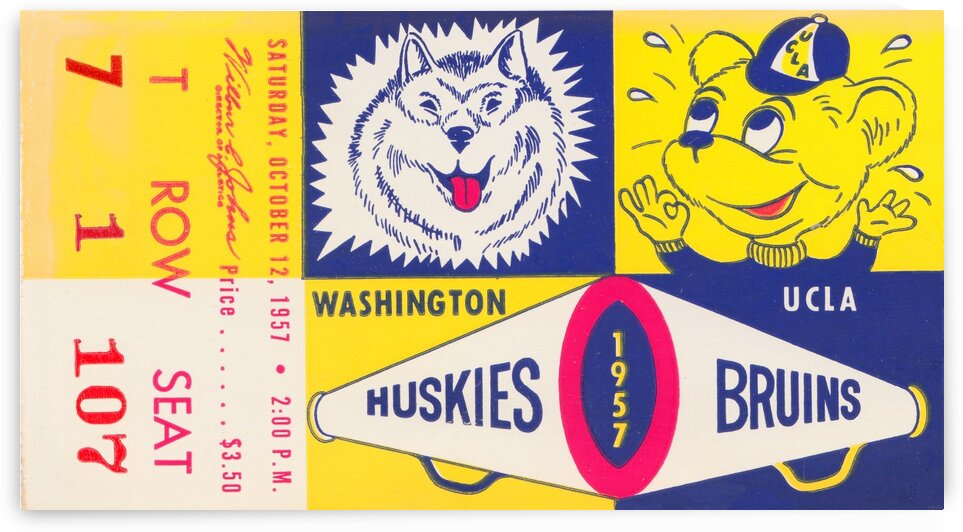 1957 UCLA vs. Washington by Row One Brand
