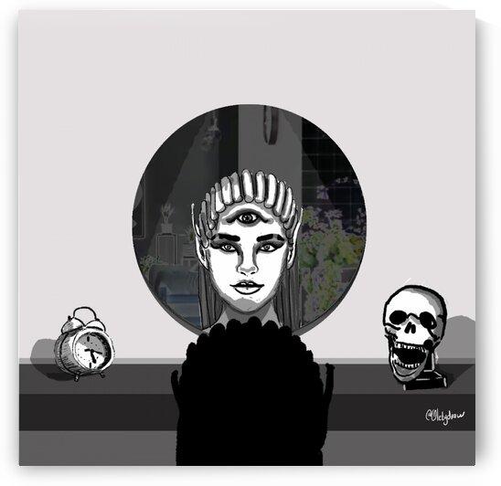 mirror witch halloween by Oletydraw