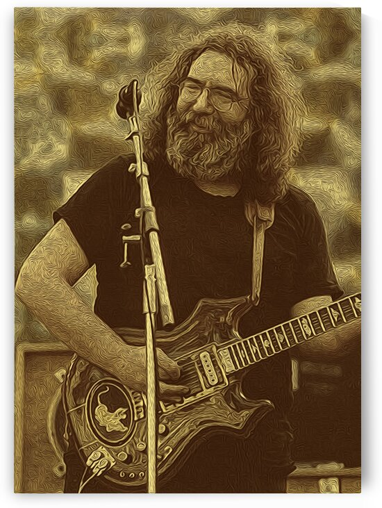 Jerry Garcia Retro Vintage 2 by RANGGA OZI