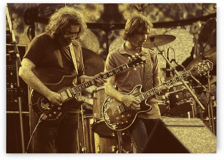 Jerry Garcia Retro Vintage 1 by RANGGA OZI