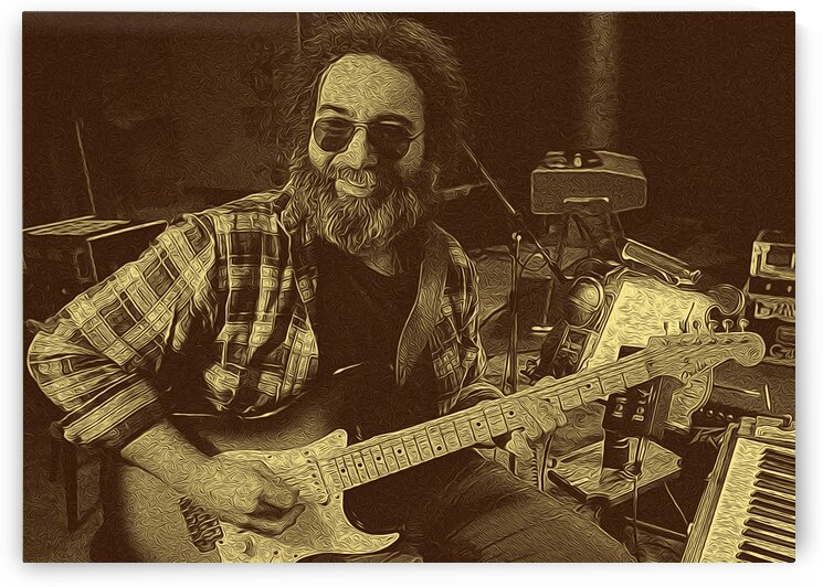 Jerry Garcia Retro Vintage 4 by RANGGA OZI