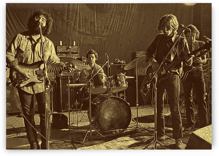 Jerry Garcia Retro Vintage 3 by RANGGA OZI