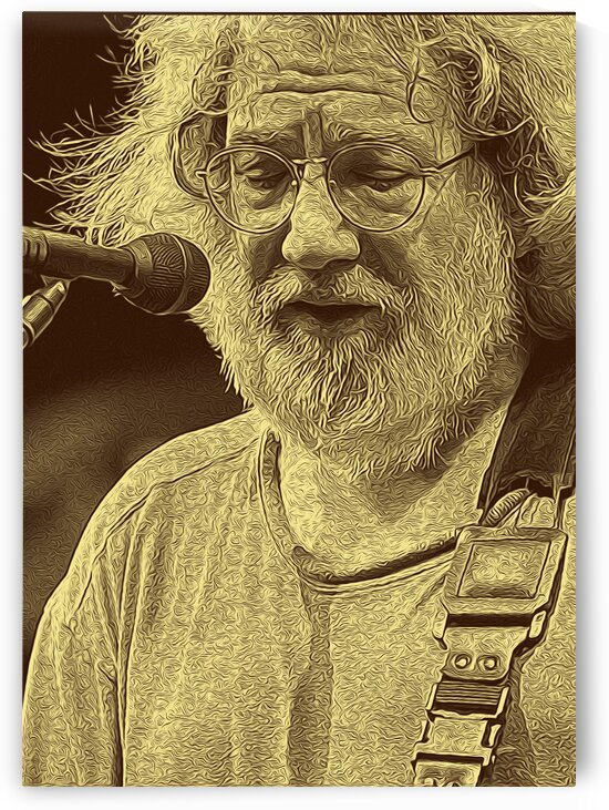 Jerry Garcia Retro Vintage 14 by RANGGA OZI