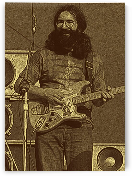 Jerry Garcia Retro Vintage 24 by RANGGA OZI