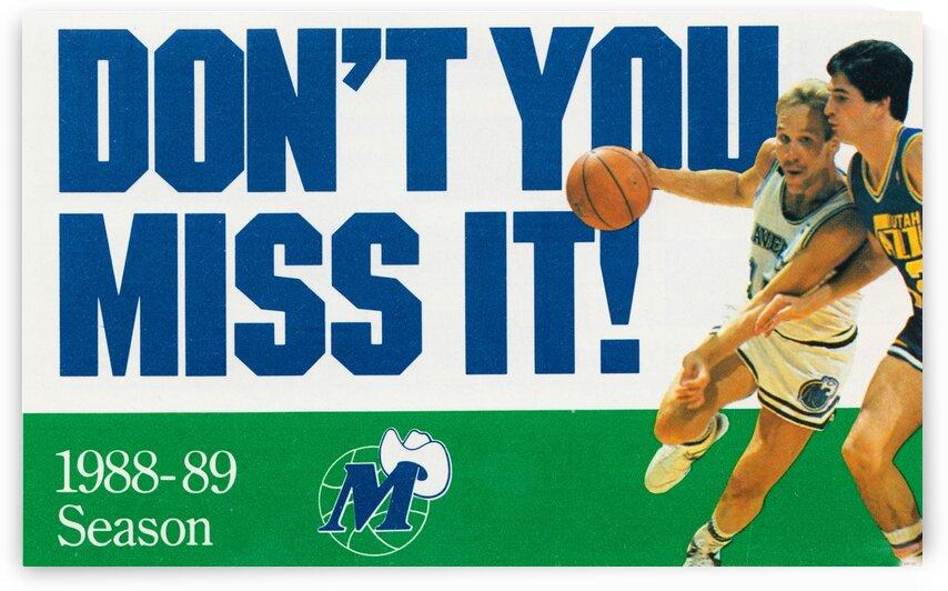 1988 Dallas Mavericks by Row One Brand