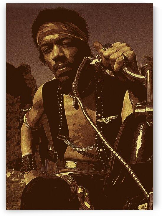 The Jimi Hendrix Experience Vintage Moments 8 by RANGGA OZI