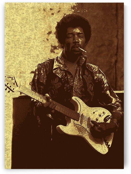 The Jimi Hendrix Experience Vintage Moments 10 by RANGGA OZI