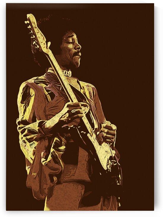 The Jimi Hendrix Experience Vintage Moments 9 by RANGGA OZI