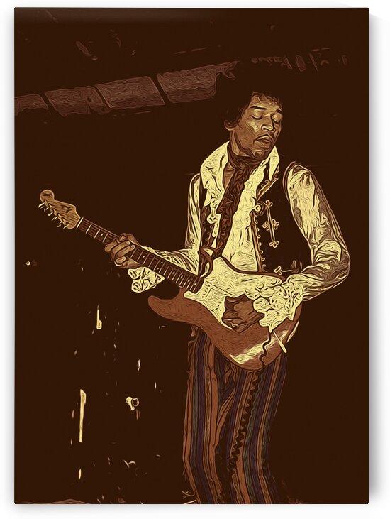 The Jimi Hendrix Experience Vintage Moments 11 by RANGGA OZI