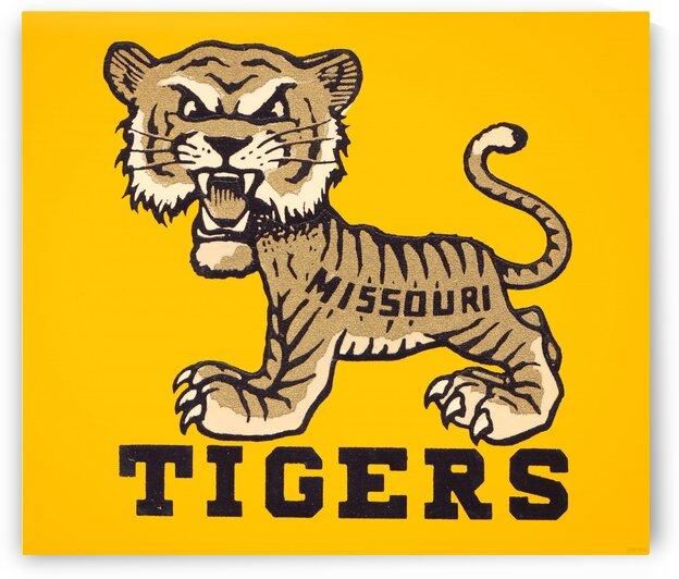 1950s Missouri Tigers Art Print by Row One Brand