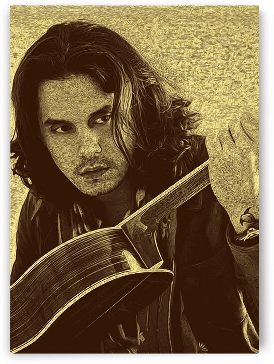 John Mayer Vintage Photo Art 4 by RANGGA OZI