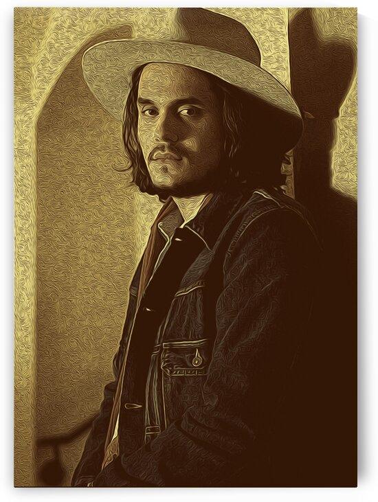 John Mayer Vintage Photo Art 13 by RANGGA OZI