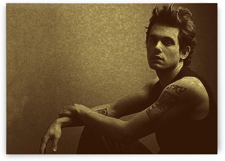 John Mayer Vintage Photo Art 19 by RANGGA OZI