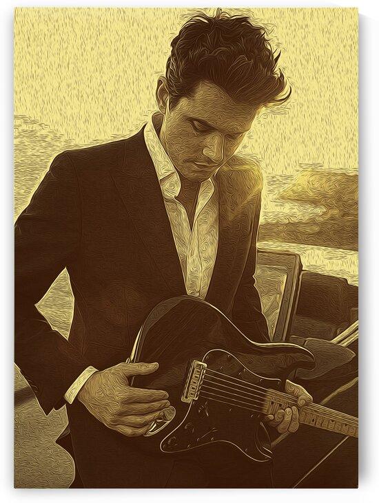 John Mayer Vintage Photo Art 18 by RANGGA OZI